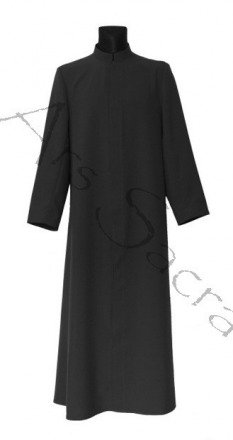 Black altar server cassock ASC-CZ