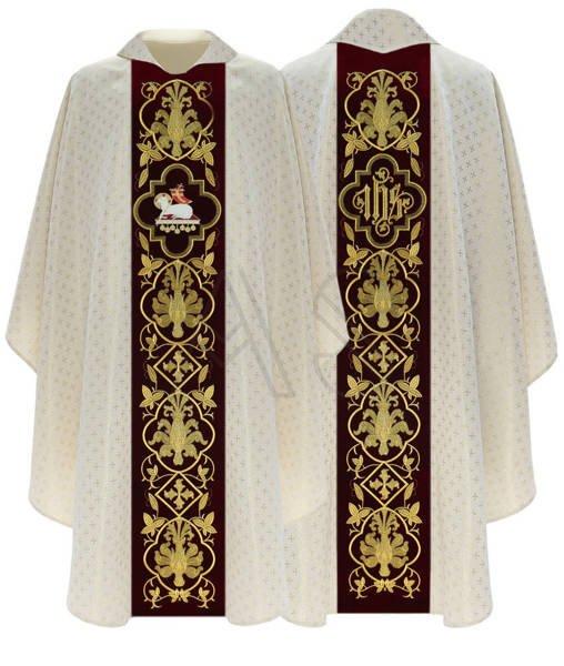 "Gothic Chasuble ""Lamb"" 814-AKC61"