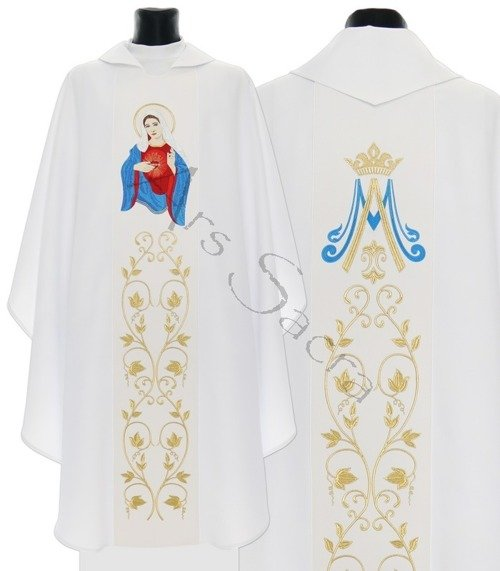 "Gothic Chasuble ""The United Heart of Mary"" 734-B"