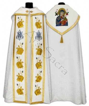 """Gothic Cope """"Our Lady of Perpetual Help"""" K636-B25h21p"""
