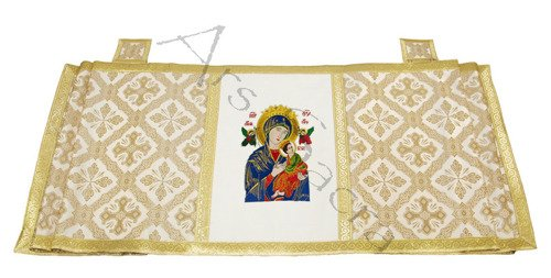 """Marian Humeral Veil """"Our Lady of Perpetual Help"""" WKR4-AK50"""