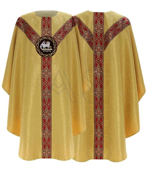 "Semi Gothic Chasuble ""Lamb"" GY215-GC25"