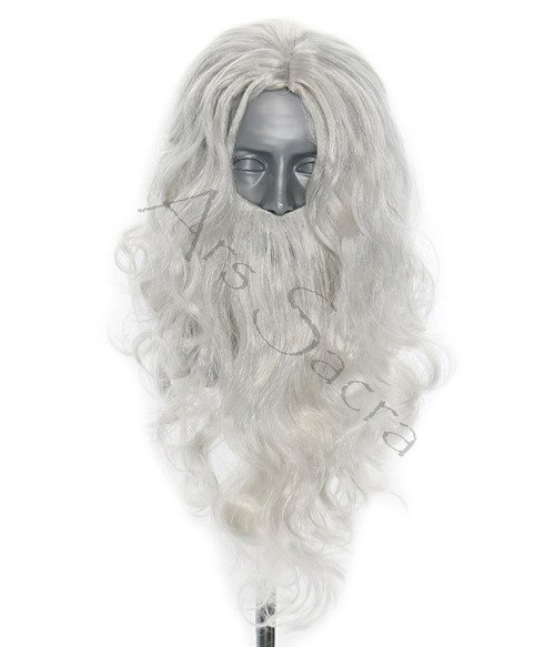 Wig with a beard of Santa Claus PER