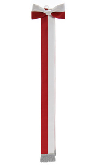 Schärpe weiß Rot WSTA-BC-S