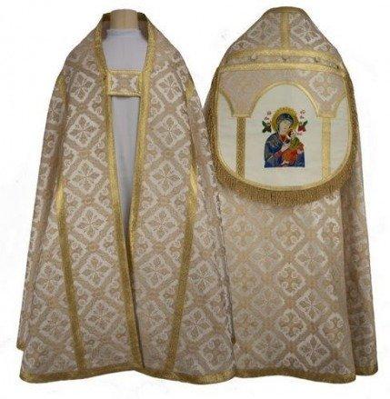 """Capa pluvial romana """"Nuestra Señora del Perpetuo Socorro"""" KR4-AK50"""