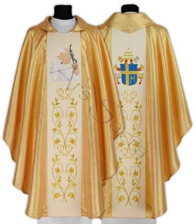 "Casulla gótica ""Papa Juan Pablo II"" 568-G"