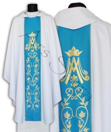 Casulla gótica mariana 085-BN